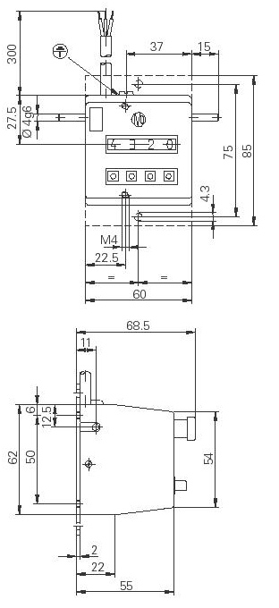 Afmetingen IVO Meter Tellers ME102