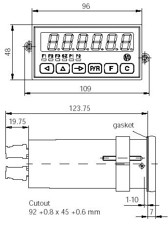 Afmetingen Elektronische Tachometers TA202
