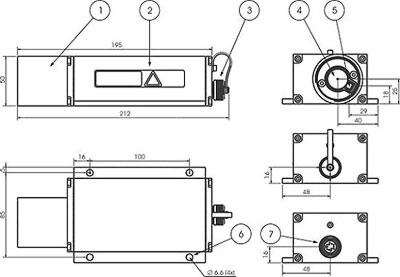 Afmetingen Disto Laser Afstandmeters LDM41 - LDM42