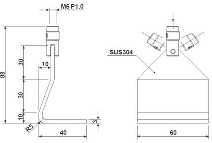Afmetingen Imada Opzetstukken DF-60